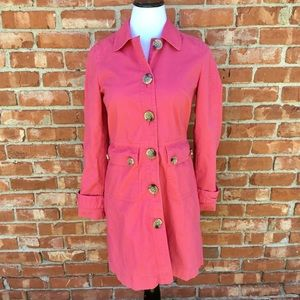 Gap pink trench coat